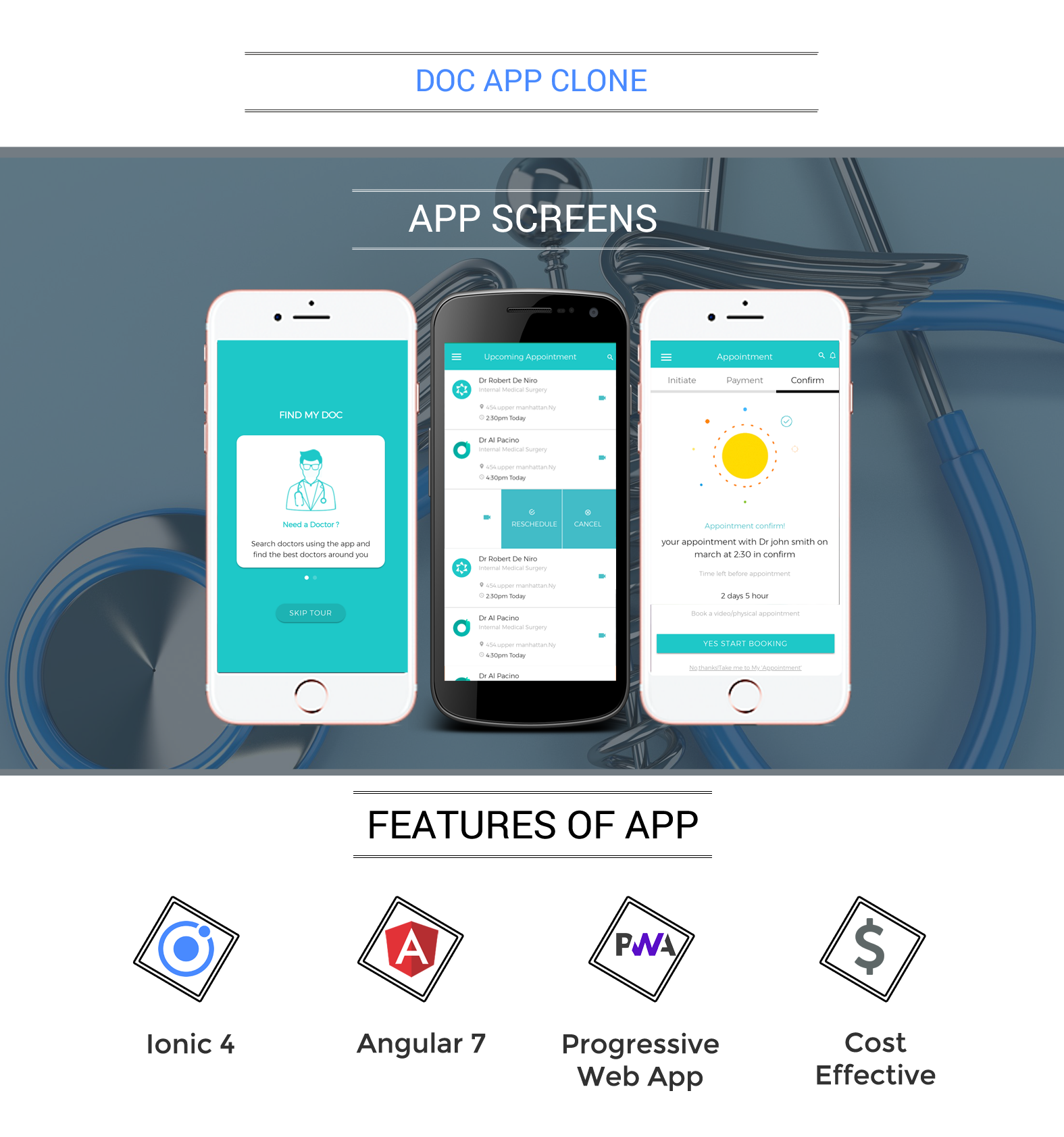 Doctor Patient App / Clinic App