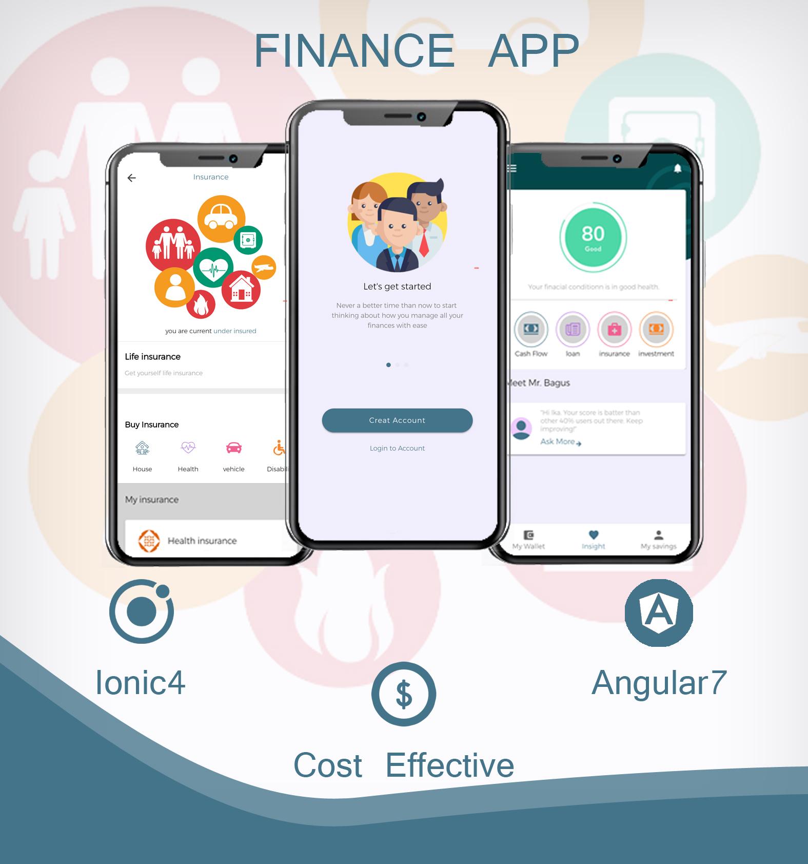 Finance app ionic